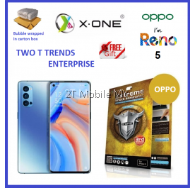 Oppo Reno 5 / Reno 3 / Reno 2 / Reno 2F / Reno / Reno 10X Zoom X-One Extreme Shock Eliminator Screen Protector 3rd Gen