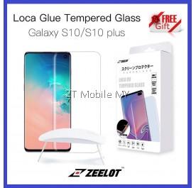 Samsung Galaxy S10 / S10 Plus Zeelot PureGlass LOCA Glue UV Tempered Glass Screen Protector ORI
