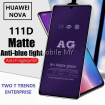 Huawei Nova 5 / Nova 4e / Nova 4 111D Tempered Glass Full Glue Clear / Matte / Anti Blue Light (Black Frame)