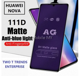Huawei Nova 5 / Nova 4e / Nova 4 111D Tempered Glass Full Glue Clear / Matte / Anti Blue Light (Black Frame)