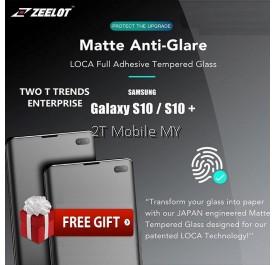 Samsung Galaxy S10 / S10 Plus Zeelot Anti-Glare Matte PureGlass LOCA Glue UV Tempered Glass Screen Protector