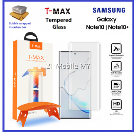 Samsung Galaxy Note 10 / Note 10 Plus / Note 10+ / Note 9 T-Max TMax Hybrid Glass UV Loca Glue 0.20mm Tempered Glass ORI