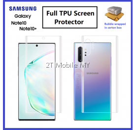 Samsung Galaxy Note 10 / Note 10 Plus / Note 10 Lite / Note 10+ Front Back Full Cover 3D Hydrogel Screen Protector