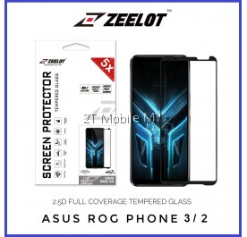 Asus ROG Phone 3 / ROG Phone II (2) Zeelot PureGlass 2.5D Full Glue Tempered Glass Screen Protector Full Coverage