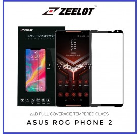 Asus ROG Phone II (2) Zeelot PureGlass 2.5D Full Glue Tempered Glass Screen Protector Full Coverage