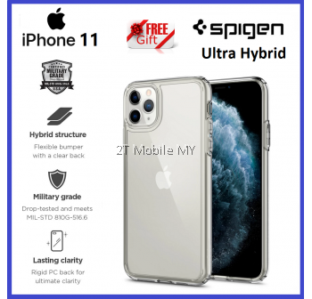 Apple iPhone 11 / iPhone 11 Pro / iPhone 11 Pro Max Spigen Ultra Hybrid Clear Case Bumper Cover ORI