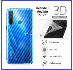 Oppo RealMe X2 Pro / RealMe X2 / XT / RealMe 5 / RealMe 5 Pro Back Carbon Fiber Matte Anti-FIngerprint Protector