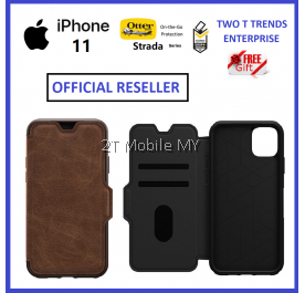 Apple iPhone 11 / iPhone 11 Pro / iPhone 11 Pro Max Otterbox Strada Leather Flip Case Bumper Cover ORI