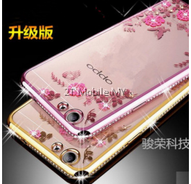 Oppo R9S/R9S Plus Secret Garden Flower Diamond TPU Case Soft Bumper Cover