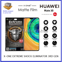 Huawei Mate 30 X-One Matte Anti-Fingerprint Extreme Shock Eliminator Screen Protector ORI