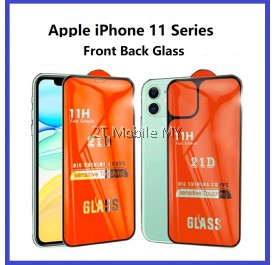 Apple iPhone 12 / 12 Mini / 12 Pro 12 Pro Max iPhone 11 / 11 Pro / Pro Max 21D Full Tempered Glass Front Back Protector