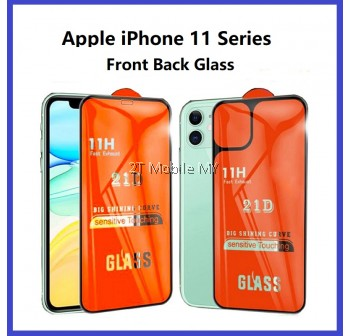 Apple iPhone 13 / 13 Mini / 13 Pro 13 Pro Max iPhone 12 iPhone 11 / 11 Pro 21D Full Tempered Glass Front Back Protector