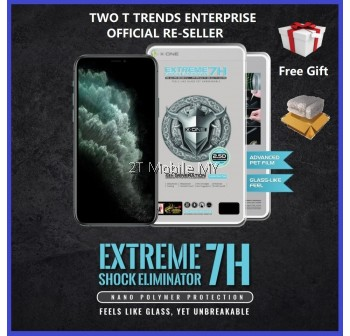 Apple iPhone 11 / 11 Pro / 11 Pro Max / XS Max X-One Extreme Shock Eliminator 7H 4th Gen 2.5D Full Cover Screen Protector