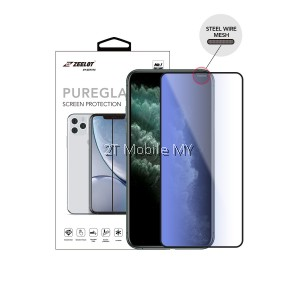 Apple iPhone 11 / 11 Pro / 11 Pro Max Zeelot Steel Wire PureGlass 2.5D Tempered Glass Clear / Matte / Anti-Blue / Privacy