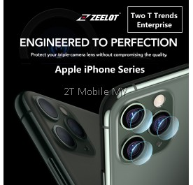 Apple iPhone 11 / 11 Pro / 11 Pro Max Upgraded Zeelot Camera Lens Tempered Glass HD Protector & Back Film Matte Type