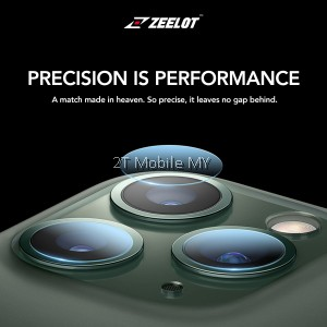 Apple iPhone 11 / 11 Pro / 11 Pro Max Zeelot Camera Lens HD Tempered Glass Protector & Back Film Matte Type