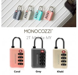 Monocozzi TSA Letter Luggage Lock Bon Voyage TSA Letter Luggage Lock