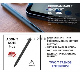 Adonit Note Plus / Note+ Stylus Pencil Native Palm Rejection Pressure Sensitivity Programmable Shortcut iPad ORI