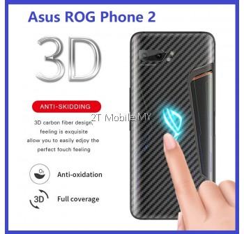 Asus ROG Phone 2 Back Carbon Fiber Protector Matte Anti-FIngerprint Sticker