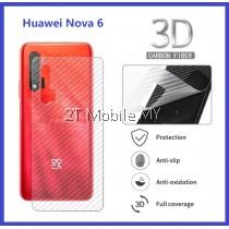 Huawei Nova 6 Carbon Matte Fiber Film Back Anti-Fingerprint Protector