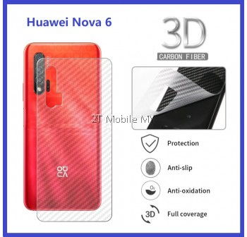 Huawei Nova 6 Carbon Matte Fiber Film Back Anti-Fingerprint Protector