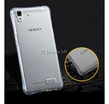 Oppo R9S/R9S Plus Transparent TPU Slim Dotted Shockproof Phone Mobile Case