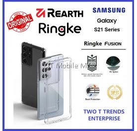 Samsung Galaxy S21 / S21 Plus / S21 Ultra / S21+ / S20 Ultra Rearth Ringke Fusion TPU Case Bumper Cover ORI