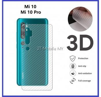 XiaoMi Mi 10 / Mi 10 Pro Back Carbon Matte Film Protector Anti Fingerprint
