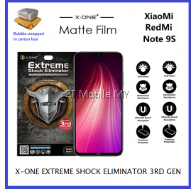 XiaoMi RedMi Note 9S / RedMi Note 8 / RedMi Note 8 Pro X-One Matte Anti-Fingerprint Extreme Shock Screen Protector ORI