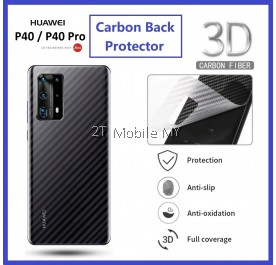 Huawei P40 / P40 Pro Back Carbon Matte Film Protector Anti Fingerprint