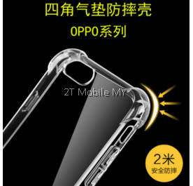 Oppo R9S Plus Transparent TPU Slim Shockproof Phone Mobile Case Bumper