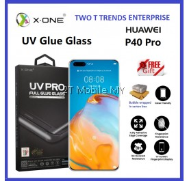 Huawei P40 Pro / P30 Pro X-One UV Pro Full Loca UV Glue Tempered Glass Screen Protector Original