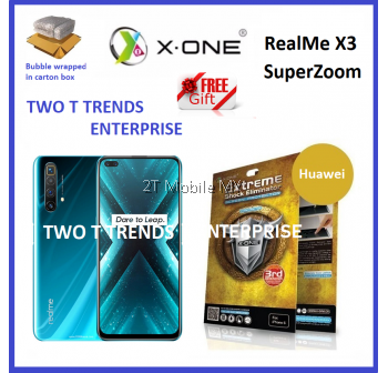 Oppo RealMe X3 SuperZoom / RealMe 6 Pro X-One Extreme Shock Eliminator Screen Protector 3rd Gen.