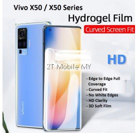Vivo X50 / X50 Pro Front Back Full Coverage 3D Soft Hydrogel Screen Protector