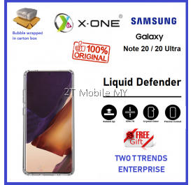 Samsung Galaxy Note 20 / Note 20 Ultra X-One Liquid Defender Clear Transparent Slim Case Cover Original