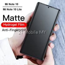 XiaoMi Mi Note 10 / Mi Note 10 Lite Matte Anti-Fingerprint Soft Hydrogel Full Screen Protector Front Back