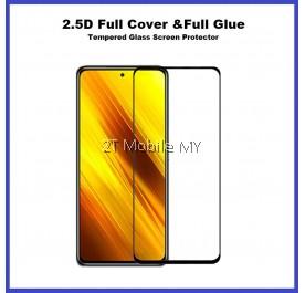 XiaoMi Poco X3 NFC Full Glue Cover Tempered Glass Screen Protector