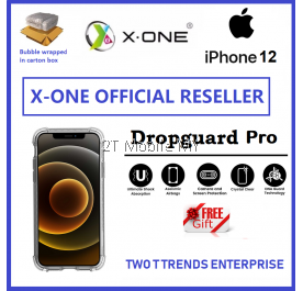 Apple iPhone 12 / iPhone 12 Mini / iPhone 12 Pro / iPhone 12 Pro Max X-One DropGuard Pro Clear Bumper Case Drop Guard