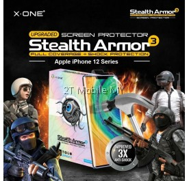 Apple iPhone 12 / 12 Mini / 12 Pro / 12 Pro Max X-One Stealth Armor 3 Clear / Matte Screen Protector Anti Shock Film ORI
