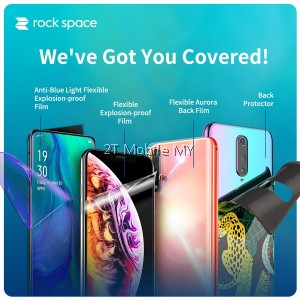 Apple iPhone 12 / 12 Mini / 12 Pro 12 Pro Max Rock Space Clear Matte Anti Blue Light Hydrogel Screen Protector Rockspace