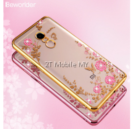 XiaoMi RedMi Note 4 Secret Garden Flower Diamond TPU Case Soft Bumper Cover