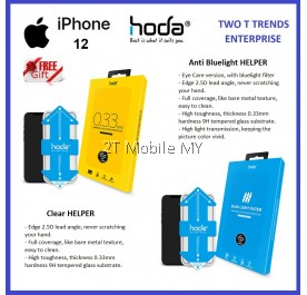 Apple iPhone 12 / 12 Mini / 12 Pro / 12 Pro Max Hoda Helper 0.33mm Clear Matte Anti Blue Light Privacy Tempered Glass