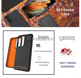 Samsung Galaxy S21 / S21 Plus / S21 Ultra / S21+ Zagg Gear4 Gear 4 Denali Protected D3O Reinforced Frame Case Bumper ORI