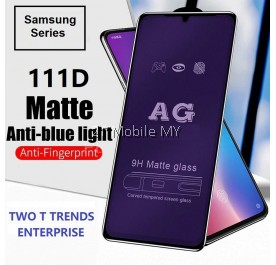 Samsung Galaxy A71 / S10 Lite / Note 10 Lite 111D Tempered Glass Full Glue Clear / Matte / Anti Blue Light (Black Frame)