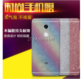 XiaoMi RedMi Note 4 Rainbow Shiny 3D Back Skin Film Screen Protector