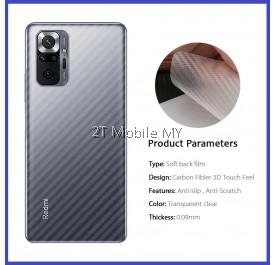 XiaoMi RedMi Note 10 / RedMi Note 10 Pro Back Carbon Matte Film Protector Anti Fingerprint