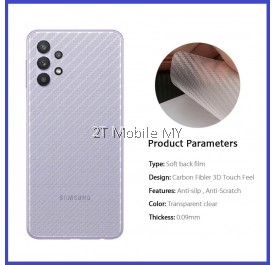 Samsung Galaxy A32 A52 A72 4G 5G Back Carbon Matte Film Protector Anti Fingerprint
