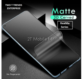 Realme 8 / Realme 8 Pro Front Back Matte Anti-Fingerprint Soft Hydrogel Full Screen Protector