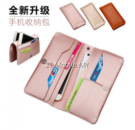 Korean Trend Large Long Wallet Multi Component Premium Leather Phone Case