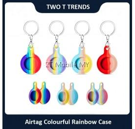 Apple Airtag Air Tag Colourful Rainbow Trendy Case Cover
